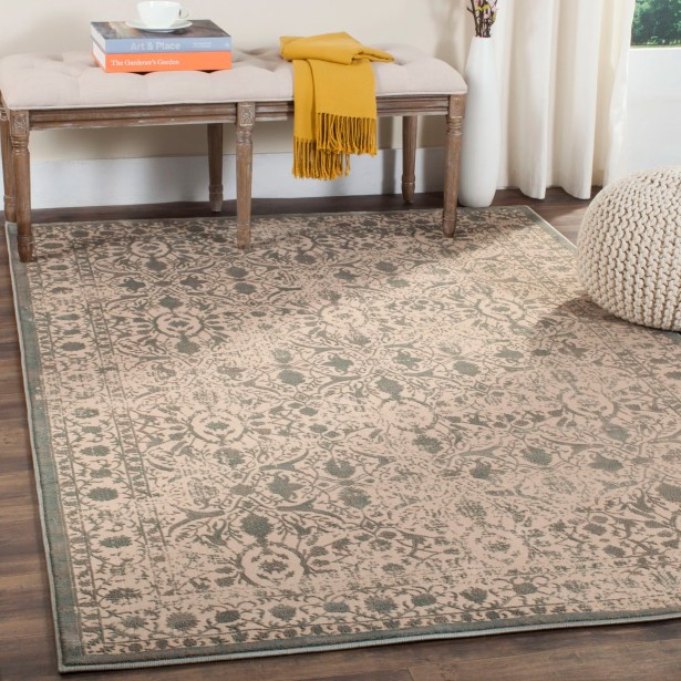 Cathy Cream/Sage Area Rug Rug Size: Rectangle 4' x 6'