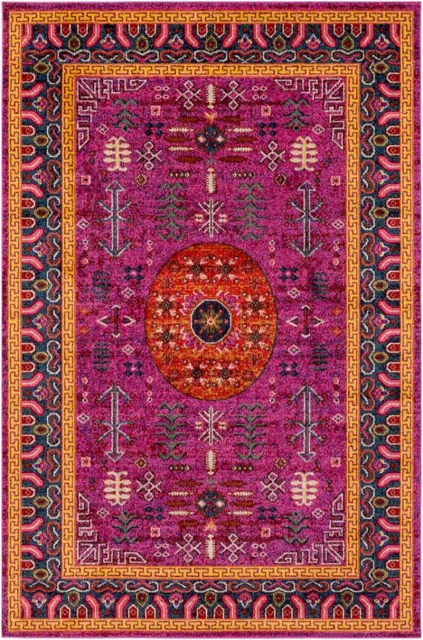 Andersonville Tibetan Pink Area Rug Rug Size: Rectangle 5'3