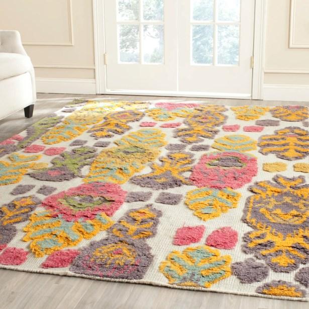 Maffei Multi Colored Area Rug Rug Size: Rectangle 9' x 12'