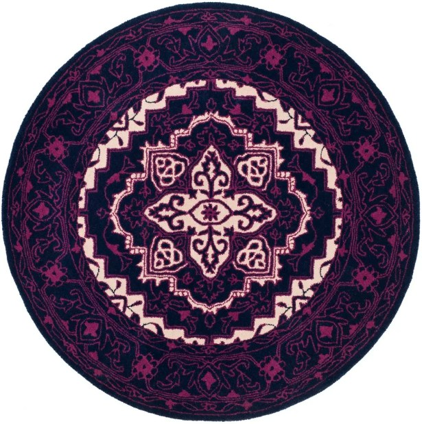 Io Hand-Tufted Purple Area Rug Rug Size: Rectangle 4' x 6'