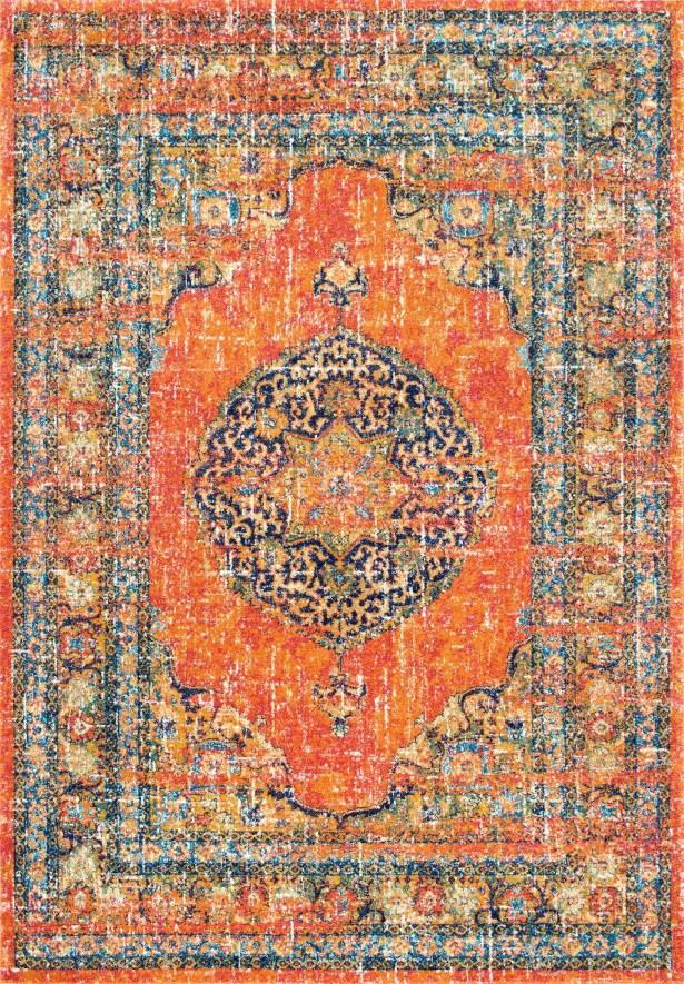 Pamela Orange Area Rug Rug Size: Rectangle 5' x 7'5