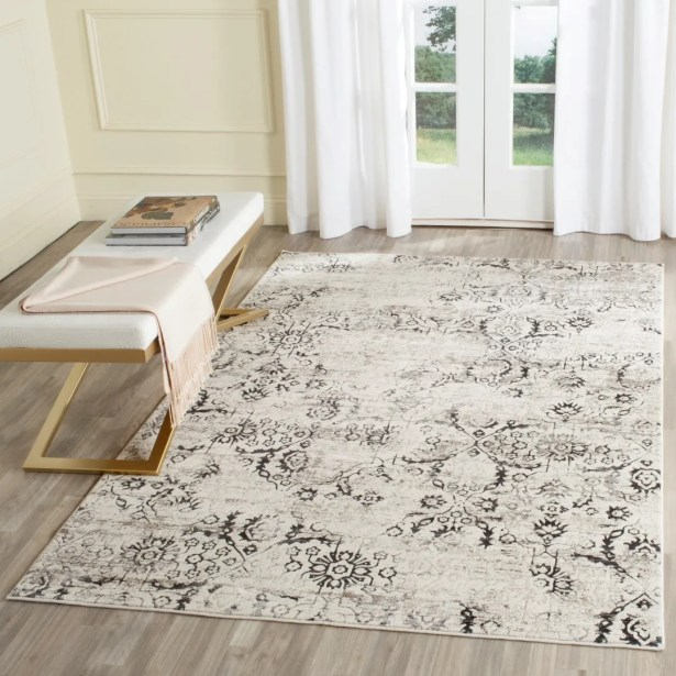 Spence Charcoal / Cream Area Rug Rug Size: Runner 2'3