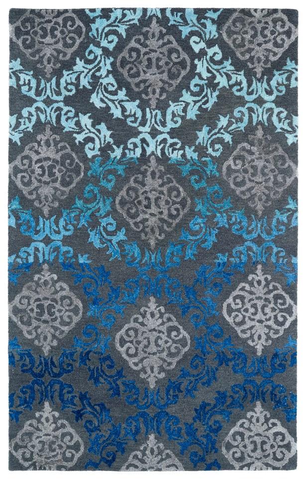 Paita Grey/Blue Area Rug Rug Size: Rectangle 5' x 7'9