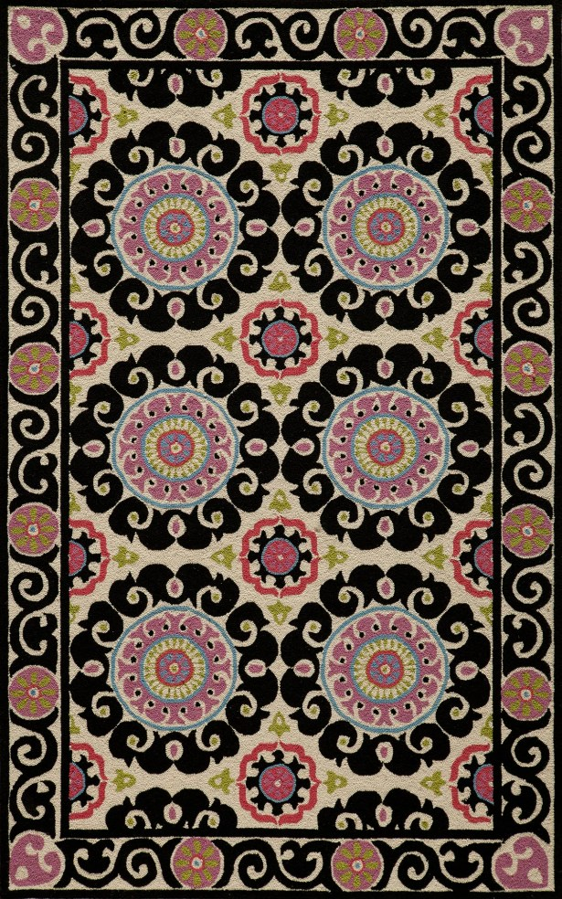 Roeser Black Area Rug Rug Size: Rectangle 3'6