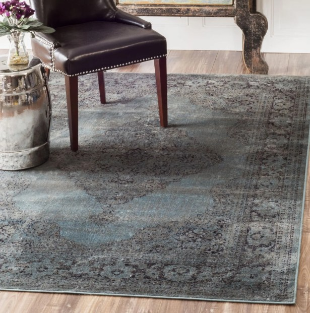 Pittwater Blue Area Rug Rug Size: Rectangle 7'8