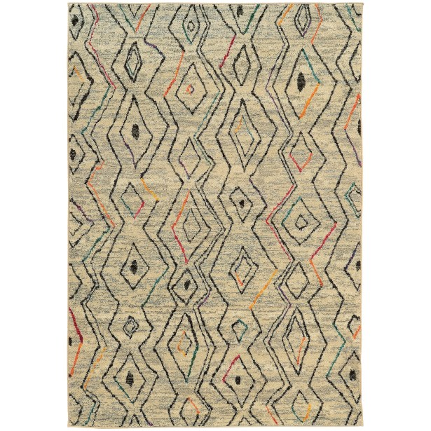 Marquis Beige Area Rug Rug Size: Rectangle 5'3