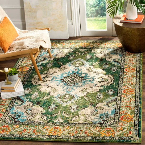 Annabel Green Area Rug Rug Size: Rectangle 8' x 10'