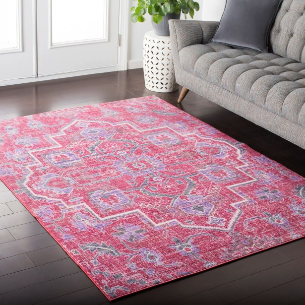 Fields Oriental Pink / Purple Area Rug Rug Size: Rectangle 9' x 11'10