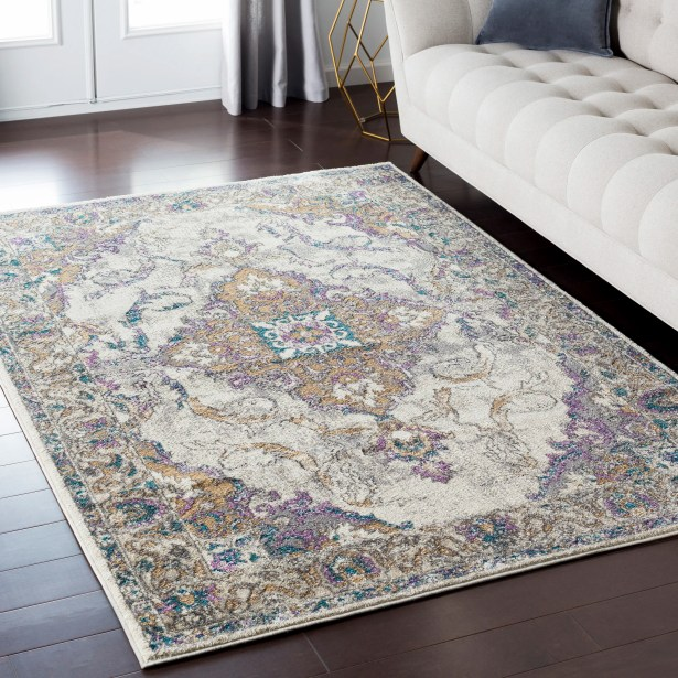 Alpharetta Gray Area Rug Rug Size: Rectangle 5'3