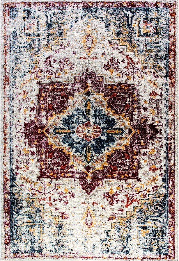 Gina Red/Blue/Yellow Area Rug Rug Size: Rectangle 6'7