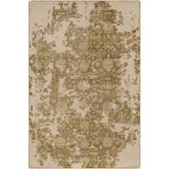 Jayden Hand-Knotted Olive/Sea Foam Area Rug Rug Size: 9' x 13'