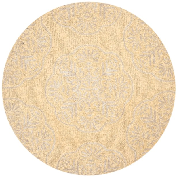 Rudra Beige/Silver Area Rug Rug Size: Rectangle 4' x 6'