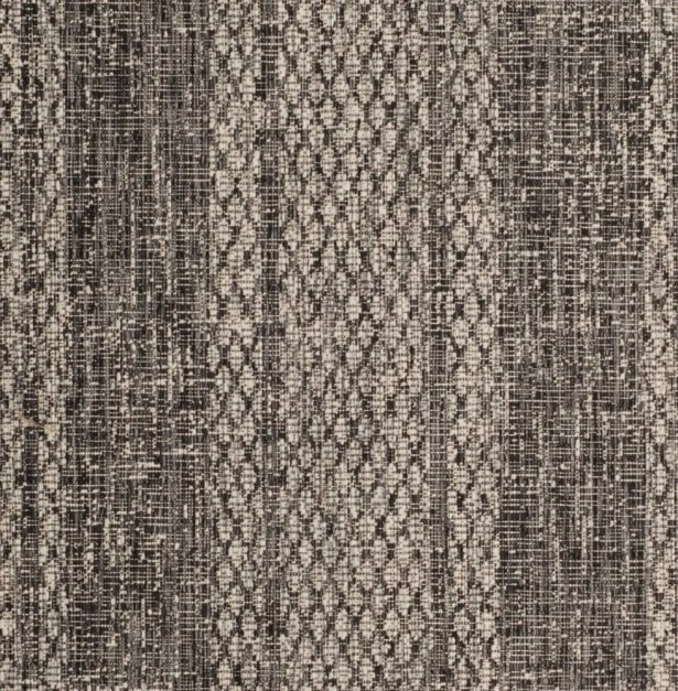 Myers Striped Gray/Black Indoor/Outdoor Area Rug Rug Size: Rectangle 6'7