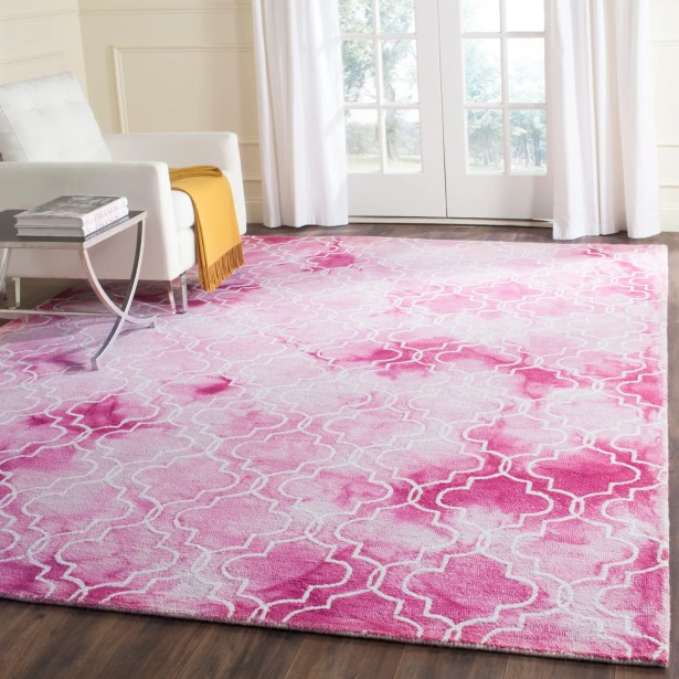 Jawhar Hand-Woven Rose/Ivory Area Rug Rug Size: Rectangle 4' x 6'