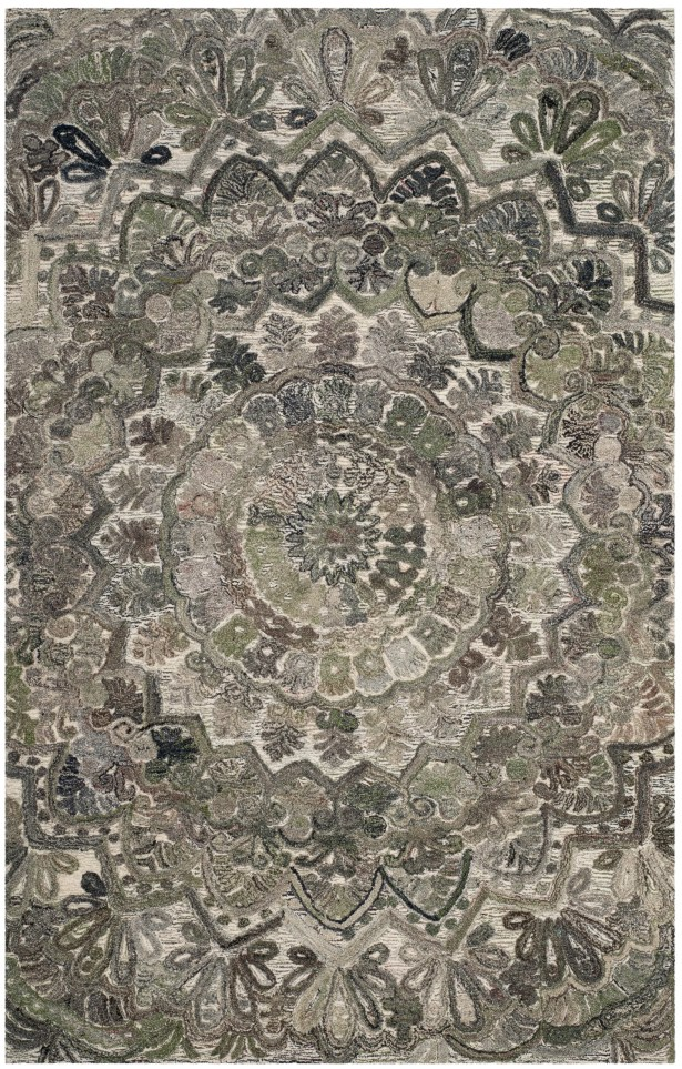 Brantley Hand-Tufted Gray Area Rug Rug Size: Square 6'