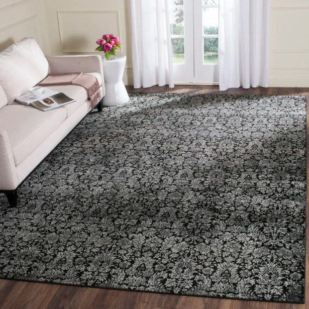 Vishnu Black / Light Gray Area Rug Rug Size: Runner 2'2