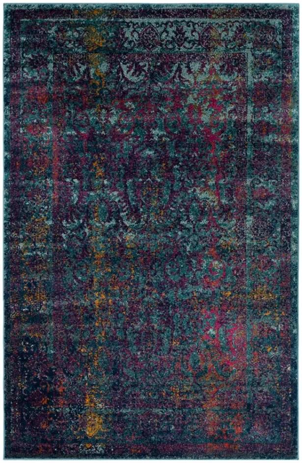 Sariya Blue/Yellow Area Rug Rug Size: Rectangle 4' x 6'