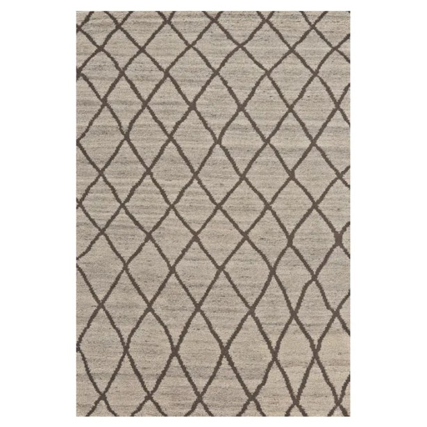 Leonel Hand-Knotted Natural/Linen Area Rug Rug Size: Rectangle 5'6