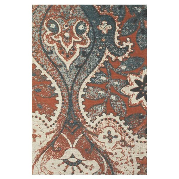 Ventnor Hand-Loomed Orange/Blue Area Rug Size: Rectangle 5' x 8'
