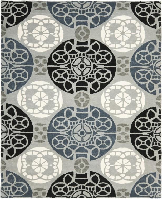 Kouerga Hand-Tufted Black/Gray Area Rug Rug Size: Rectangle 11' x 15'