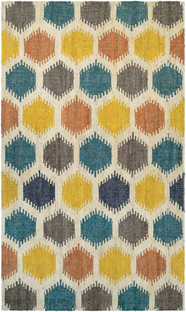 Jemnice Hand Woven Linen/Ocean Area Rug Rug Size: Rectangle 5'3