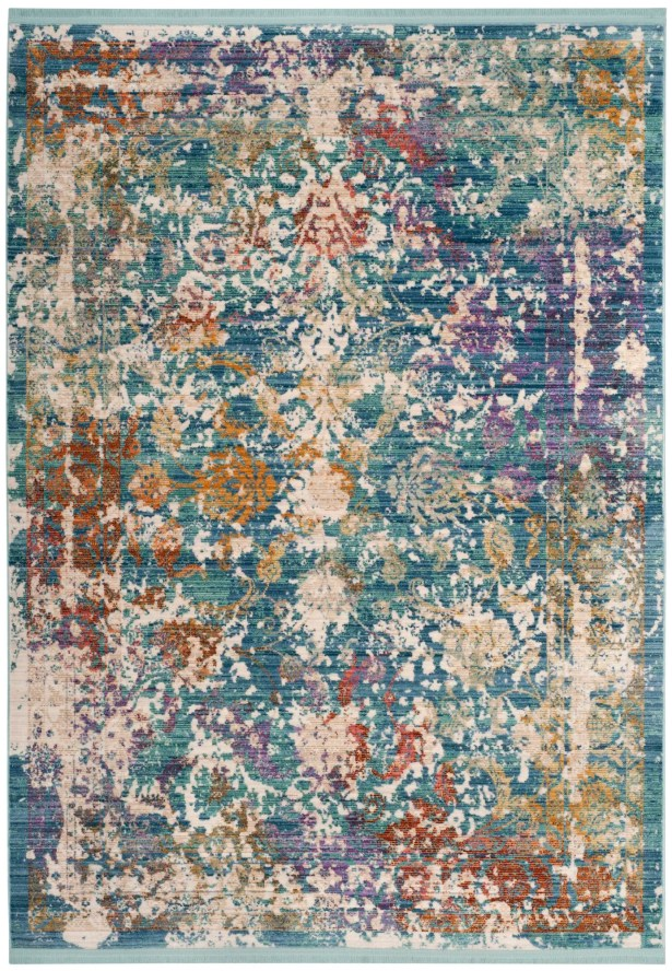 Justine Green/Beige/Purple Area Rug Rug Size: Rectangle 4' x 6'
