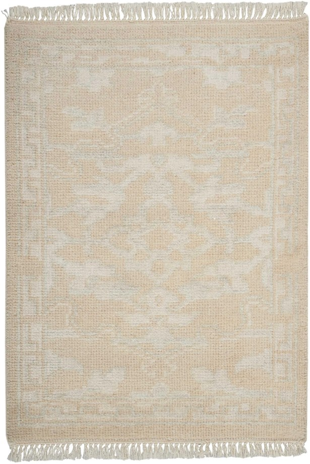 Haddou Hand-Knotted Ivory Area Rug Rug Size: Rectangle 2'3