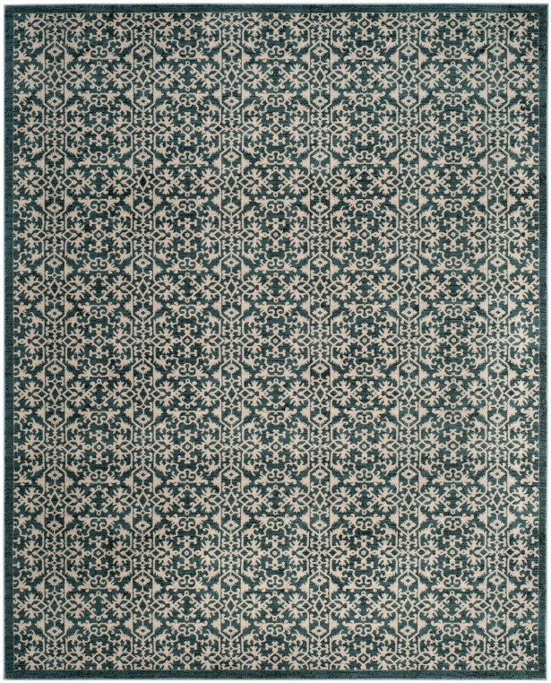 McClusky Turquoise/Cream Area Rug Rug Size: Rectangle 4' x 6'