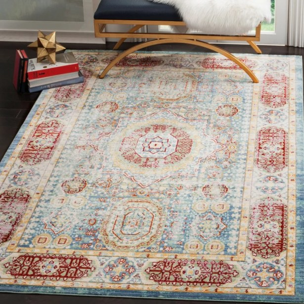 Doline Oriental Area Rug Rug Size: Rectangle 5' x 8'