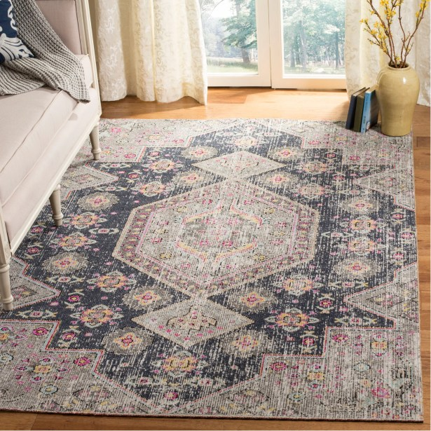 Griffeth Black/Gray Indoor/Outdoor Area Rug Rug Size: Rectangle 5'1