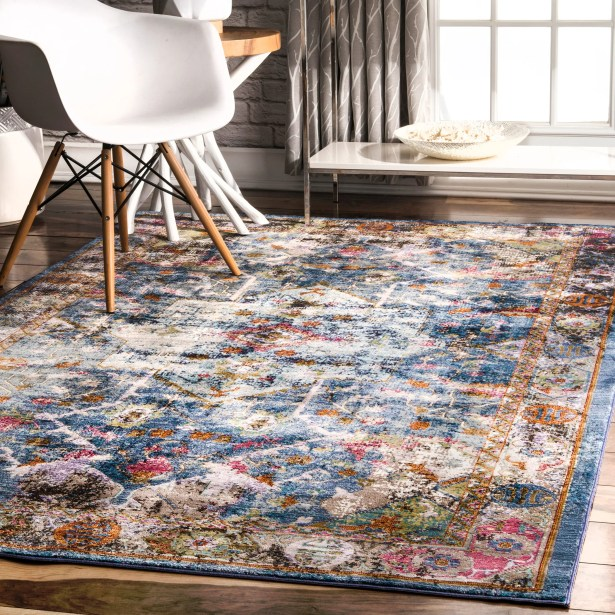 Faustine Blue Area Rug Rug Size: Rectangle 4' x 6'