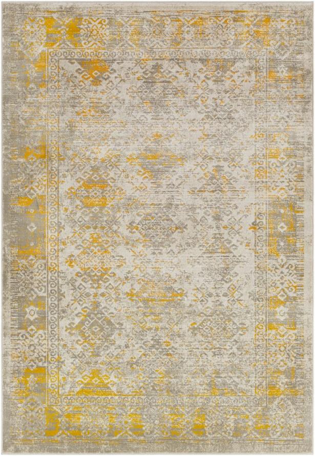 Anil Yellow/Gray Area Rug Rug Size: Rectangle 5'2