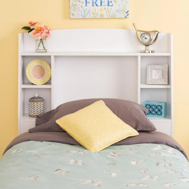 Krier Twin Bookcase Headboard Color: White