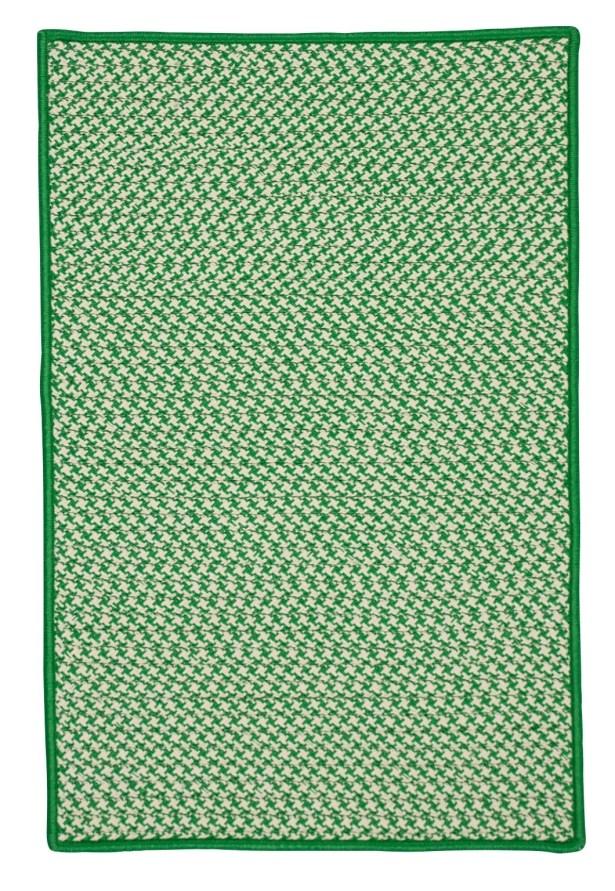 Surrency Houndstooth Tweed Hand-Woven Green Indoor/Outdoor Area Rug Rug Size: Rectangle 7' x 9'