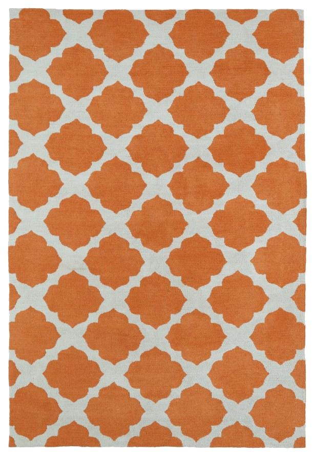 Marie Orange Area Rug Rug Size: Rectangle 5' x 7'