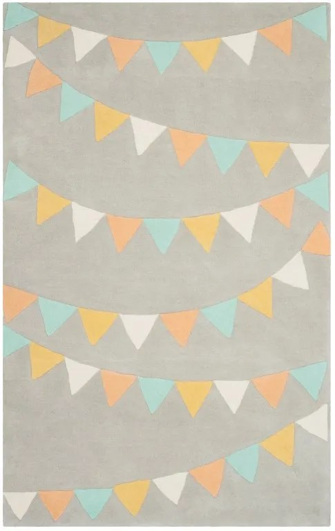 Party Time Hand-Loomed Gray Area Rug Rug Size: Rectangle 5' x 8'