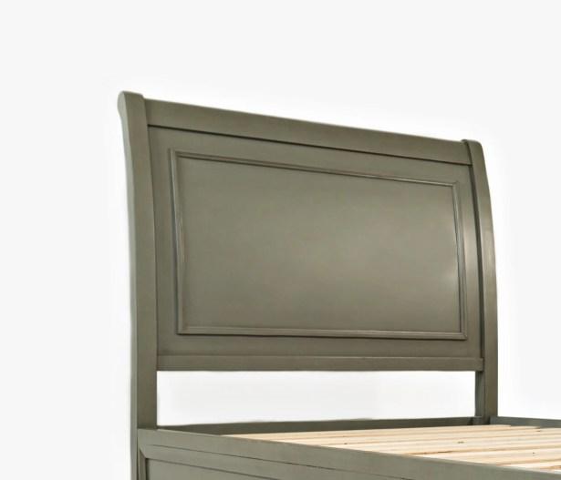 Glenburn Wood Panel Headboard Color: Grey, Size: Queen