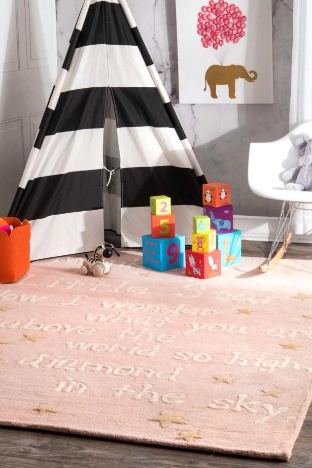 Paola Trenton Baby Novelty Pink Area Rug Rug Size: Rectangle 6' x 9'