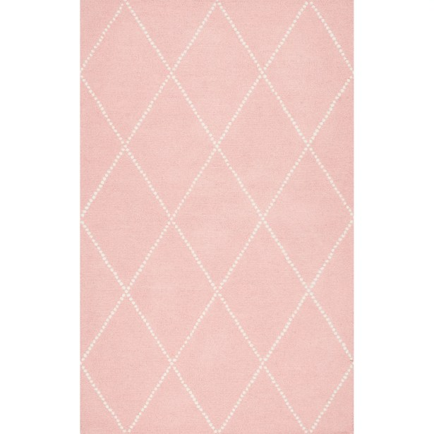 Nat Diamond Hand-Tufted Baby Pink Area Rug Rug Size: Rectangle 8'6