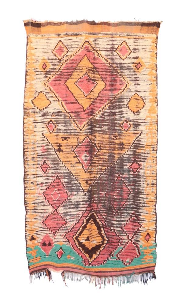 Moroccan Hand Woven Wool Beige/Orange/Brown Area Rug