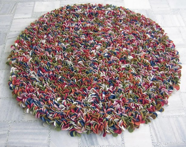Enoki Multi-colored Felted Shag Area Rug Rug Size: Rectangle 5' x 7'