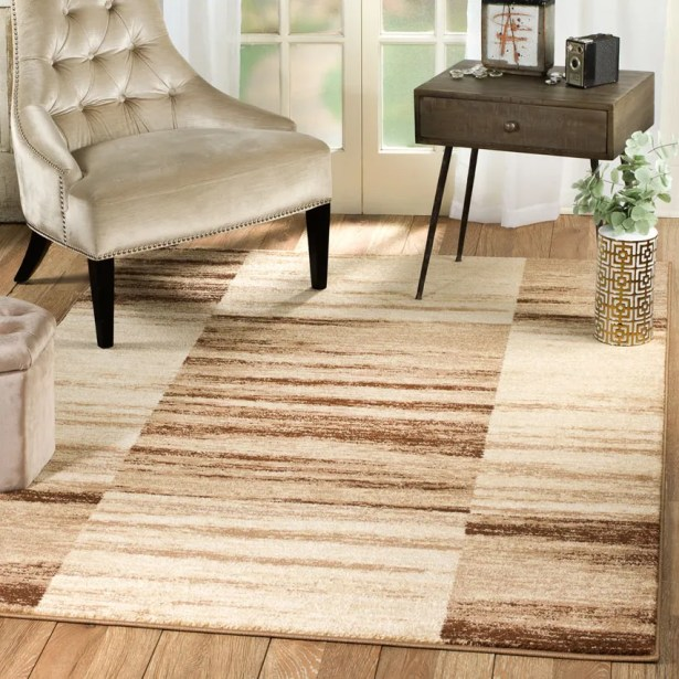 Anabella Taupe Area Rug Rug Size: 7'4