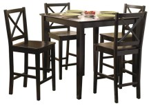 Dining Table Sets Dade 5 Piece Counter Height Dining Set