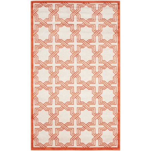 McArthur Ivory/Orange Area Rug Rug Size: Rectangle 8' x 10'