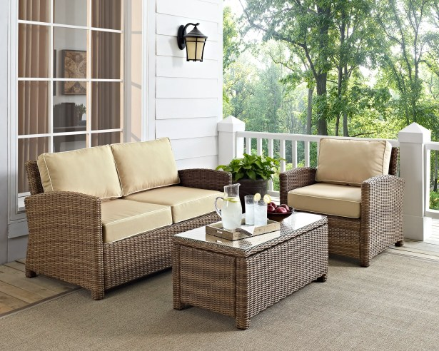 Middlesex 3 Piece Sofa Set with Cushions Fabric: Sand