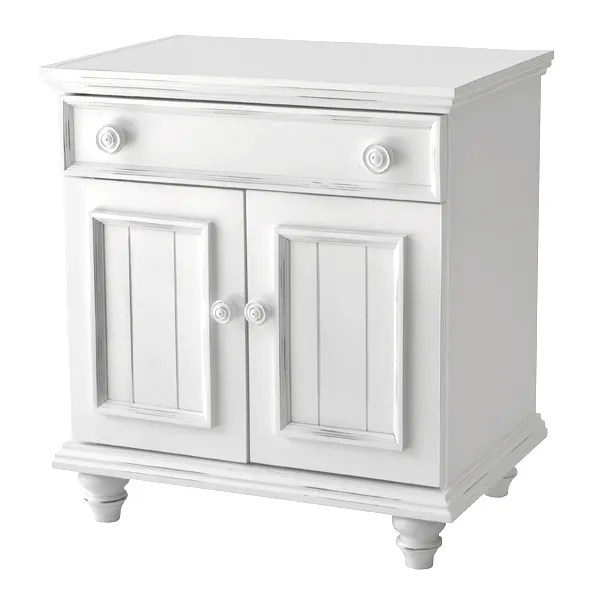 Mary Jane 1 Drawer Nightstand Color: White