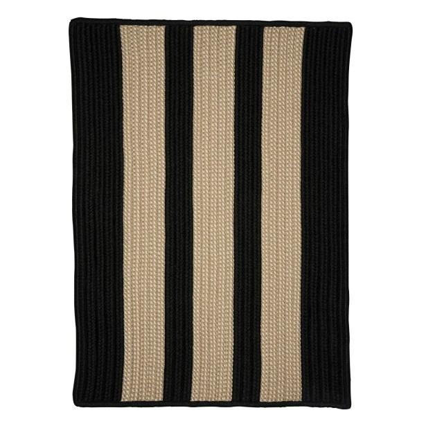 Seal Harbor Hand-Woven Black/Beige Area Rug Rug Size: Rectangle 3' x 5'