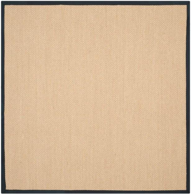 Hillsborough Maize / Black Area Rug Rug Size: Square 6'