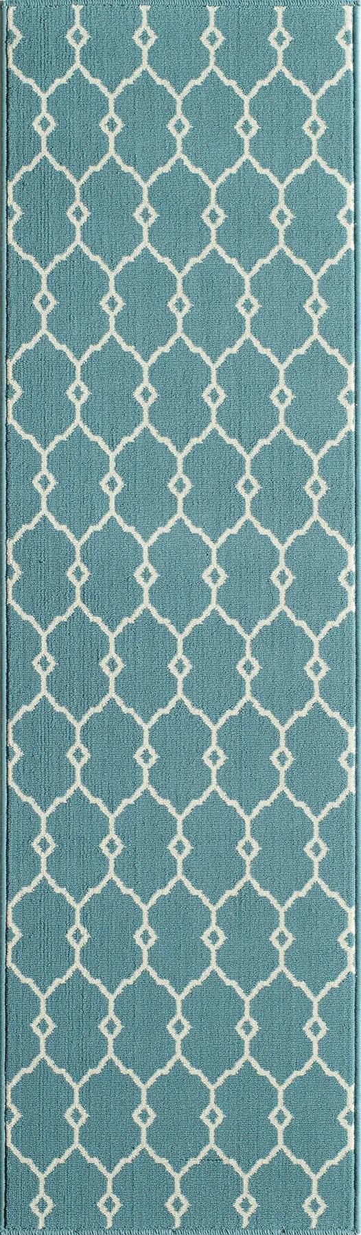 Halliday Power Loom Blue Indoor/Outdoor Area Rug Rug Size: Rectangle 6'7