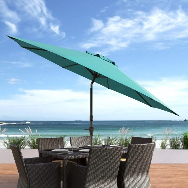 Markley 10' Market Umbrella Fabric Color: Turquoise Blue